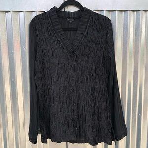 Komarov crushed velvet blouse